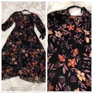 Lulu's Passionate Love Floral Midi Dress